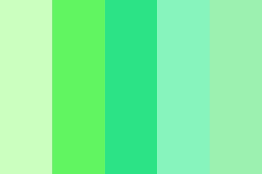 Mixed Green Color Palette