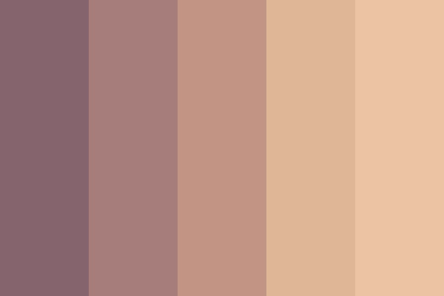Mixed Skin Tones Color Palette