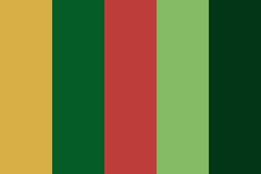 Money Green Red Cream Color Palette