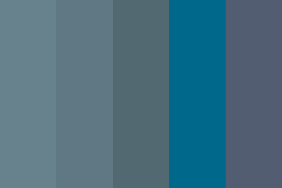 Moody Blue Hues Color Palette