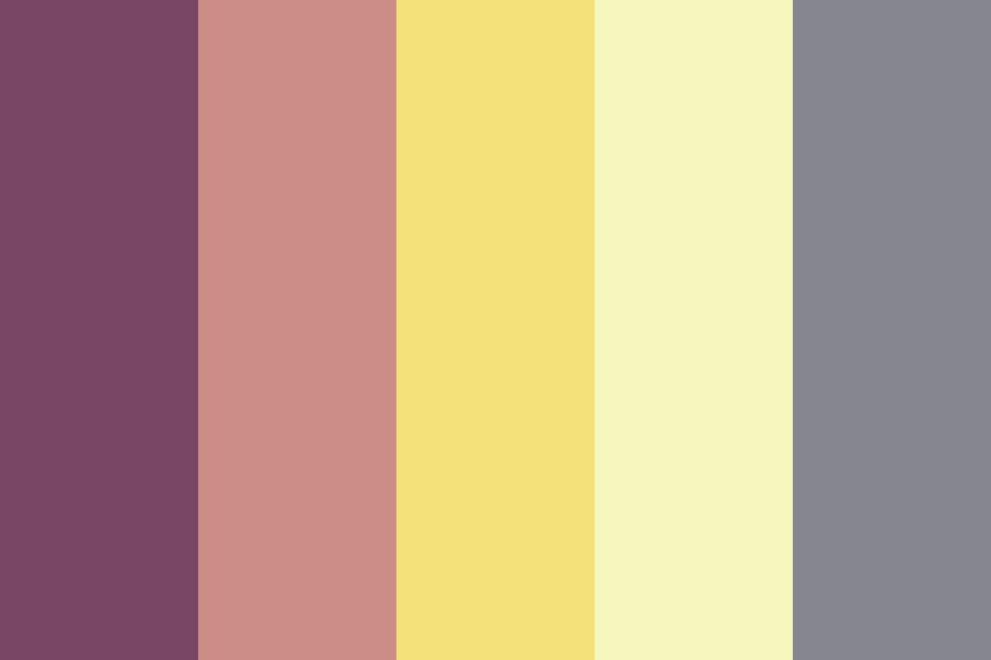 Moody Fruit And Coffee Color Palette