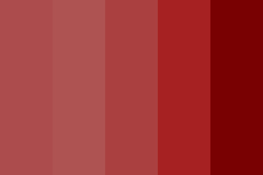 More Red Color Palette