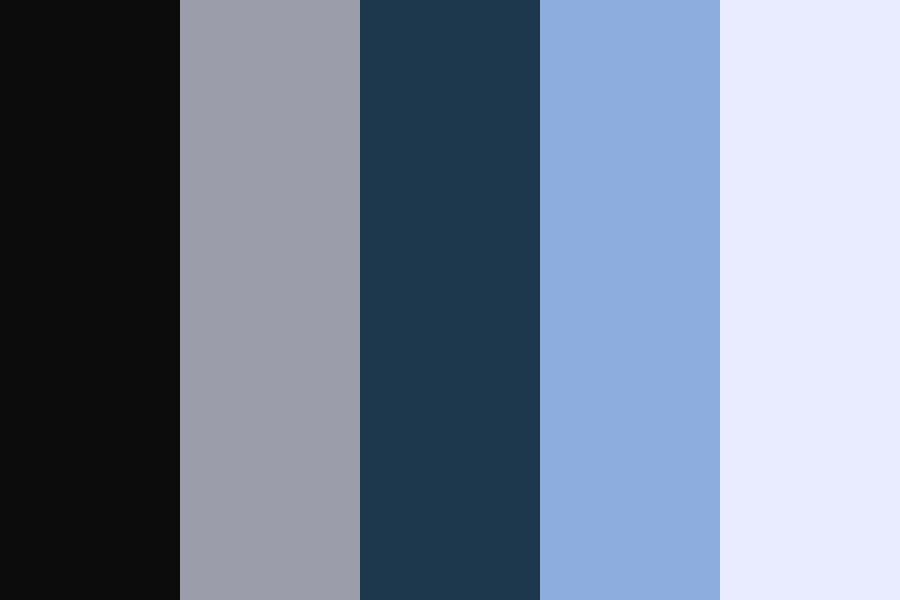 Moslty Cool Blues Color Palette