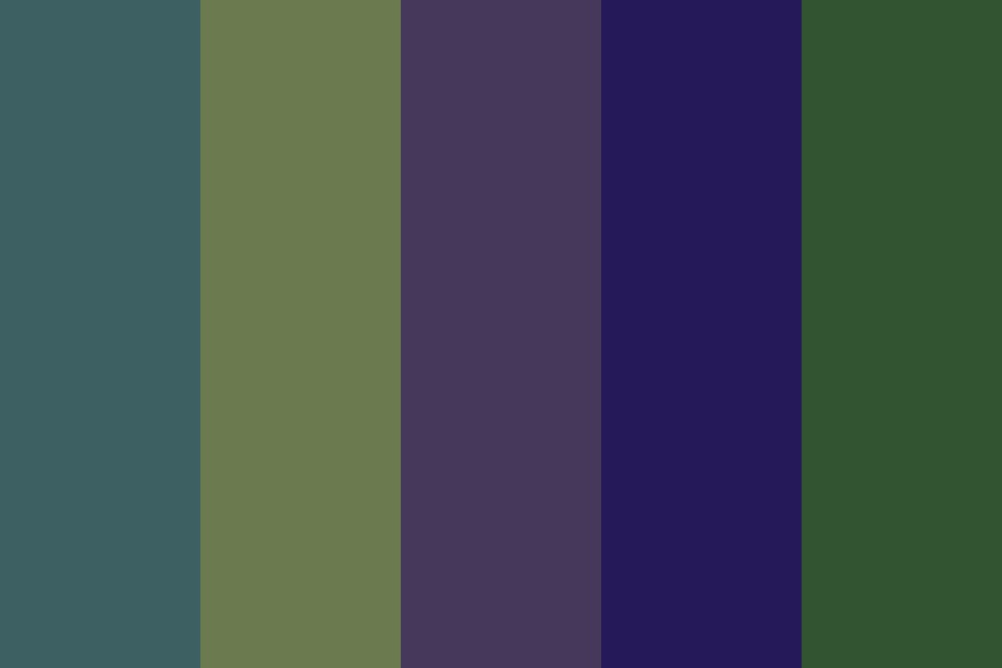 Moss Night Color Palette