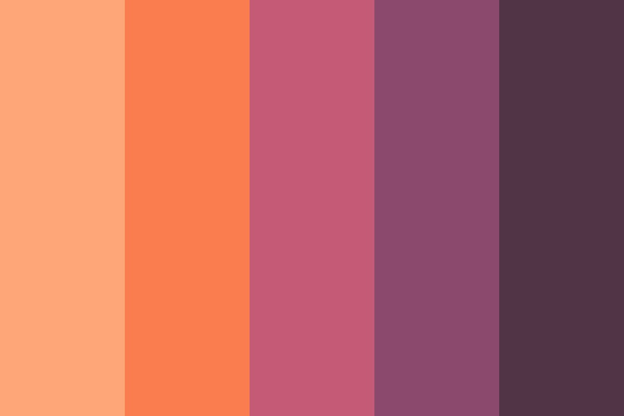 Mountain Sunset Color Palette