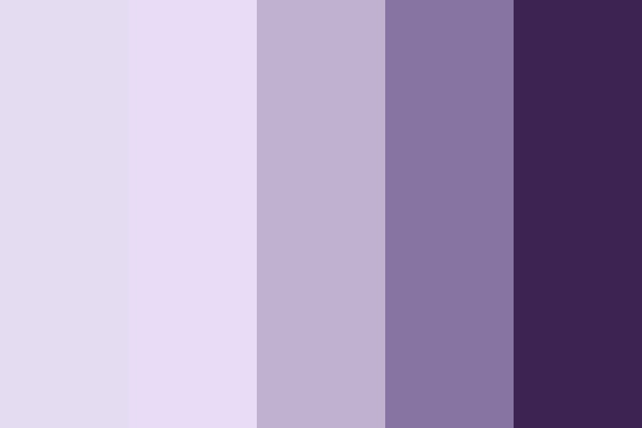 Multiple Shades Of Purple Color Palette