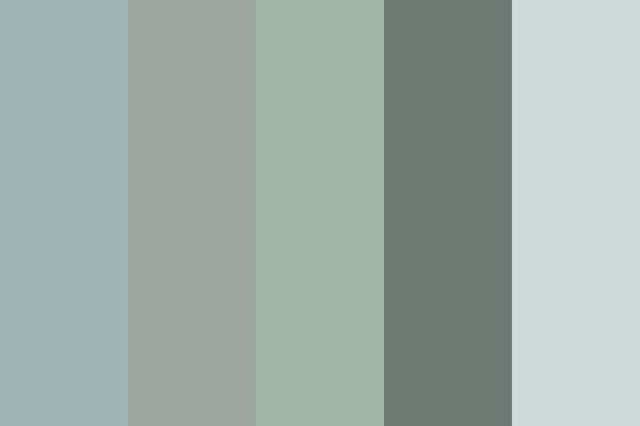 Muted Green blue grey Color Palette