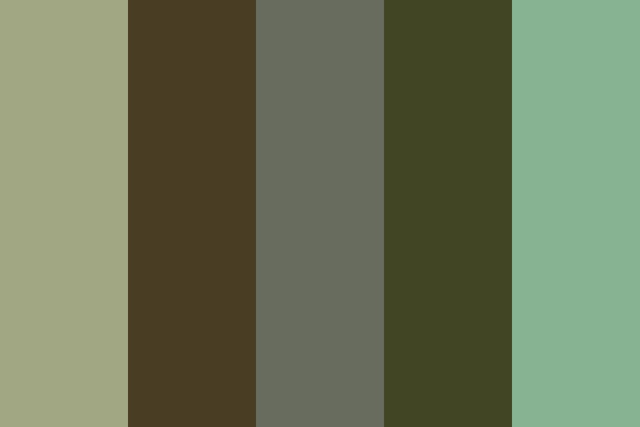 Muted Moss Color Palette