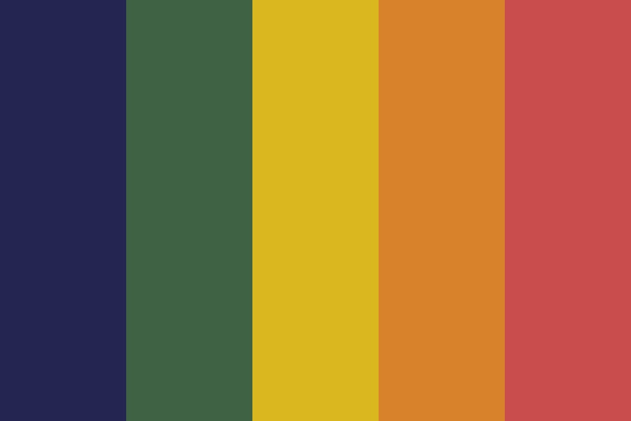 Muted Rainbow Color Palette