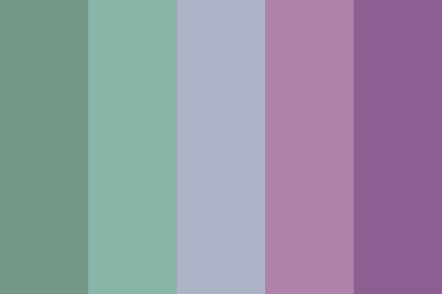 Muted Teal And Purple Color Palette