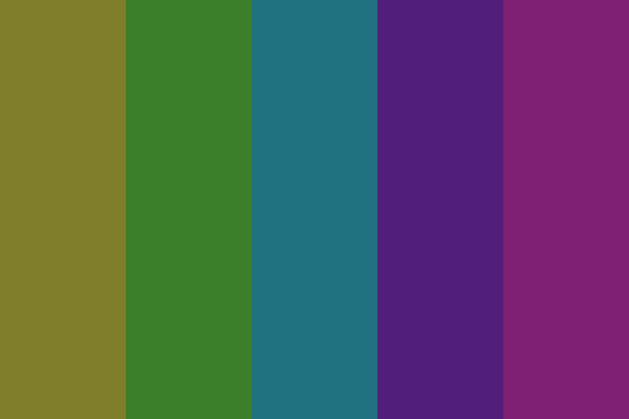 Muted Technicolor Color Palette