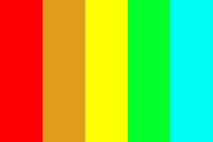 My Beautiful Rainbow Color Palette