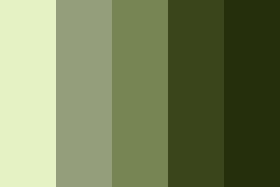 My Greens Color Palette