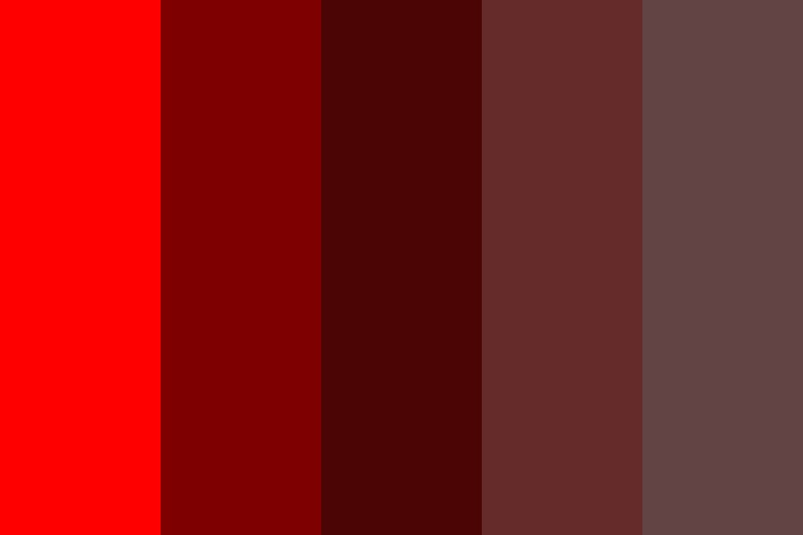 My Red Fade Color Palette