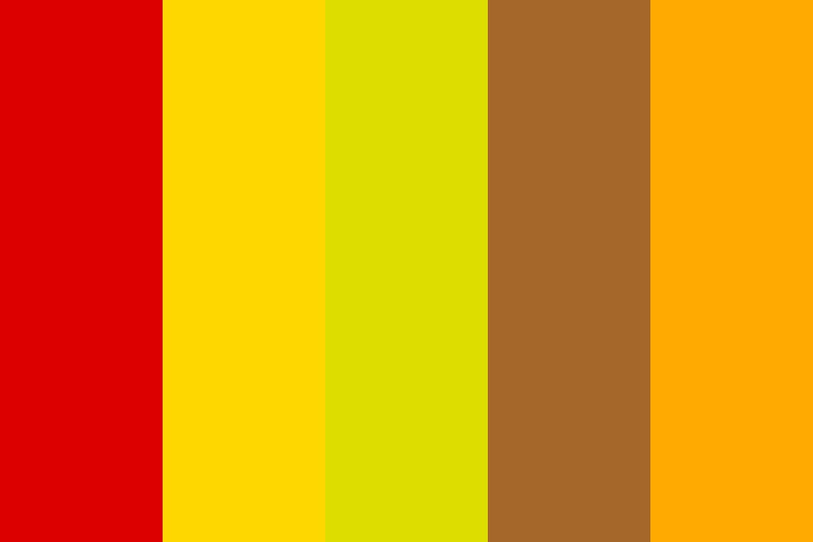 Mythical Jacket Fire Color Palette
