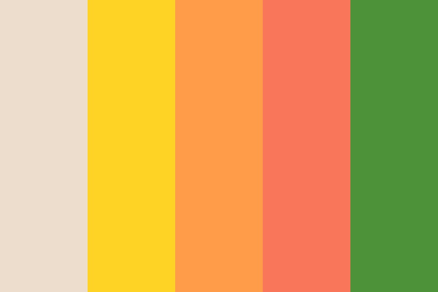 Natural Citrus Color Palette