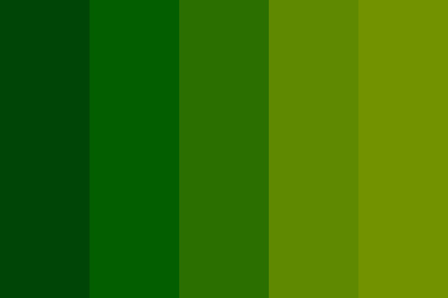 Natures First Green Is Gold Color Palette