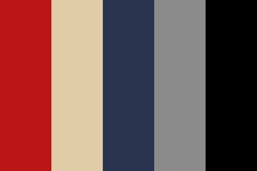 Nautical Red Color Palette