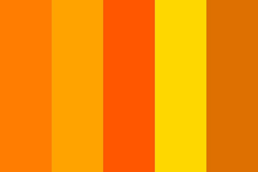 Navel Orange Color Palette