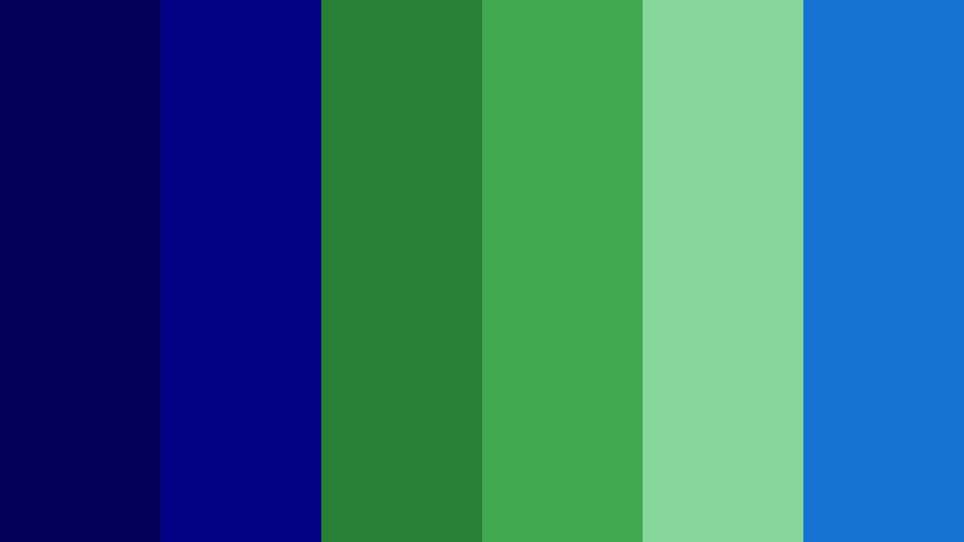 Navy Blue And Green Color Palette