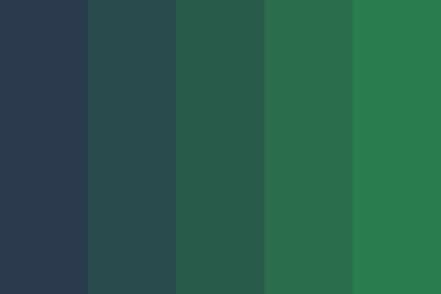 Navy Space Gradient Color Palette