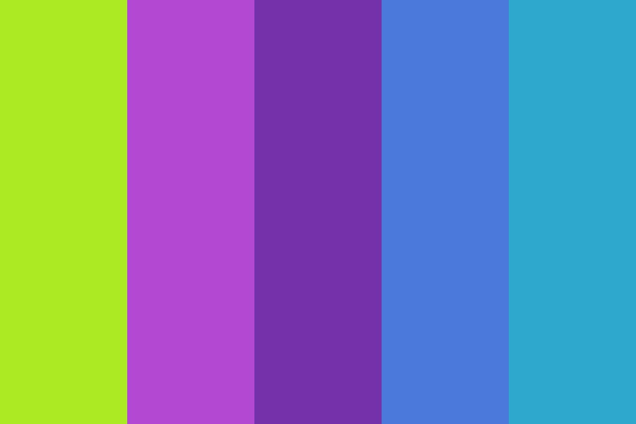 Neon Daphne Color Palette