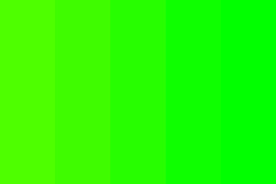 Neon Green To Green Color Palette