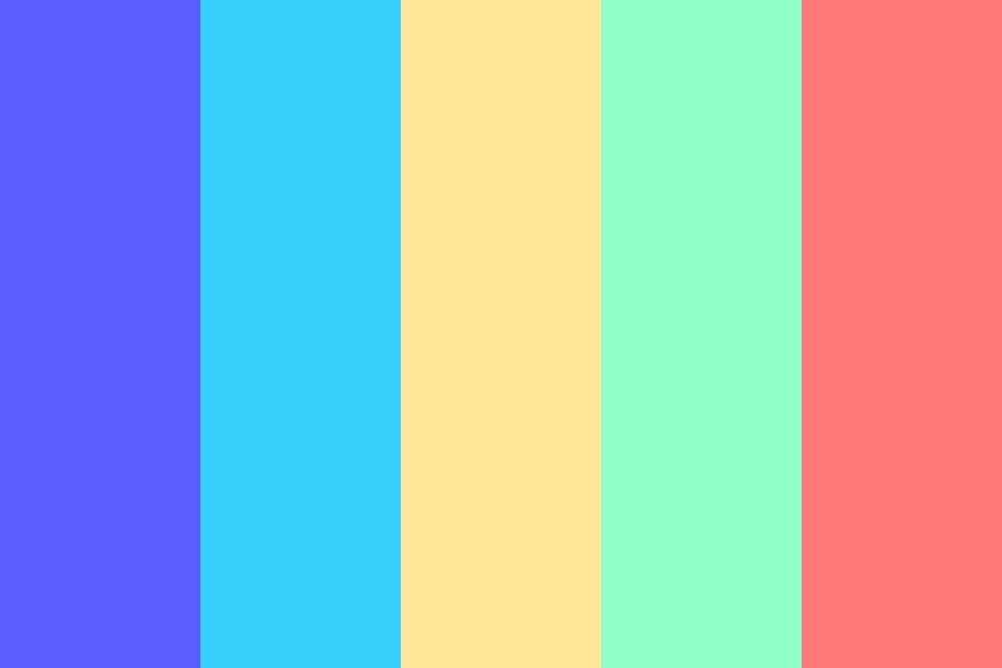 Neon Pastel Color Palette