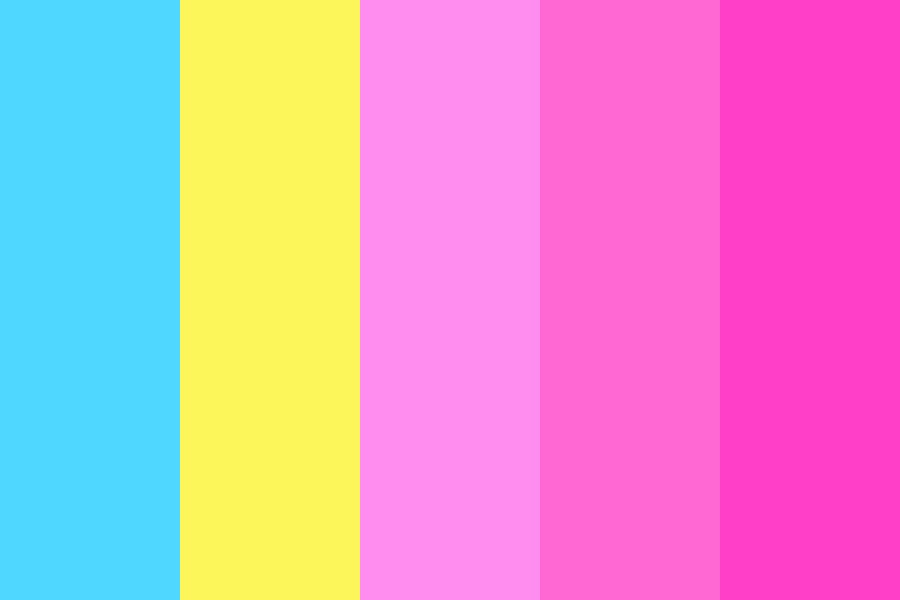 Neon Pinkie Color Palette