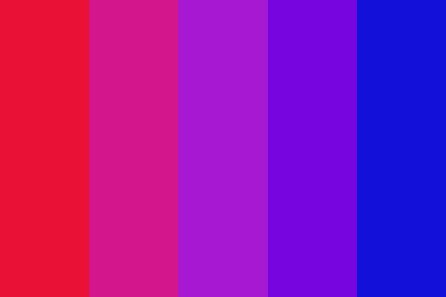 Neon Red To Blue Color Palette