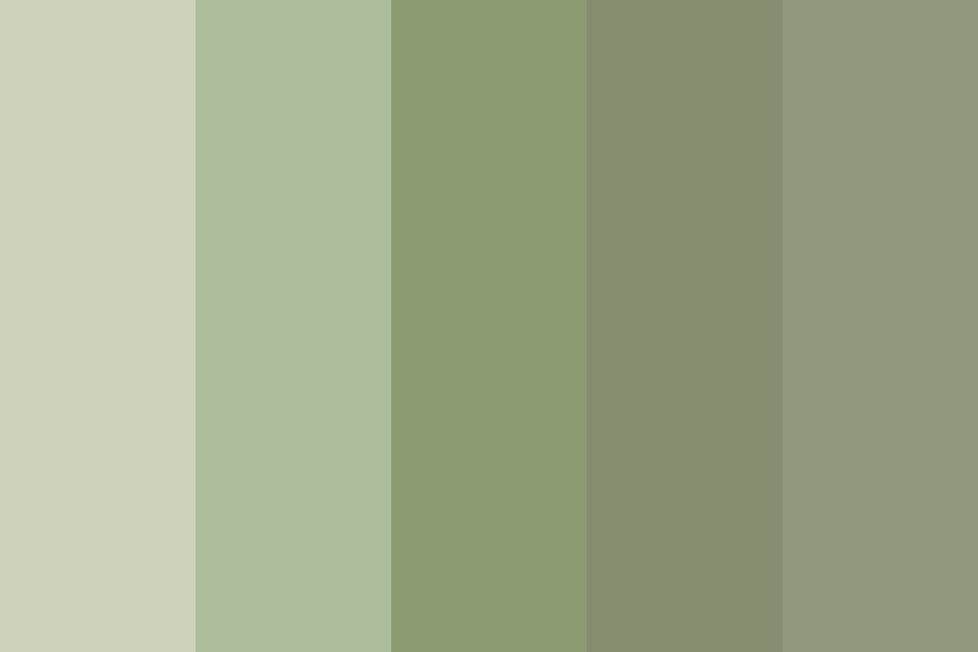 Neutral Green Color Palette
