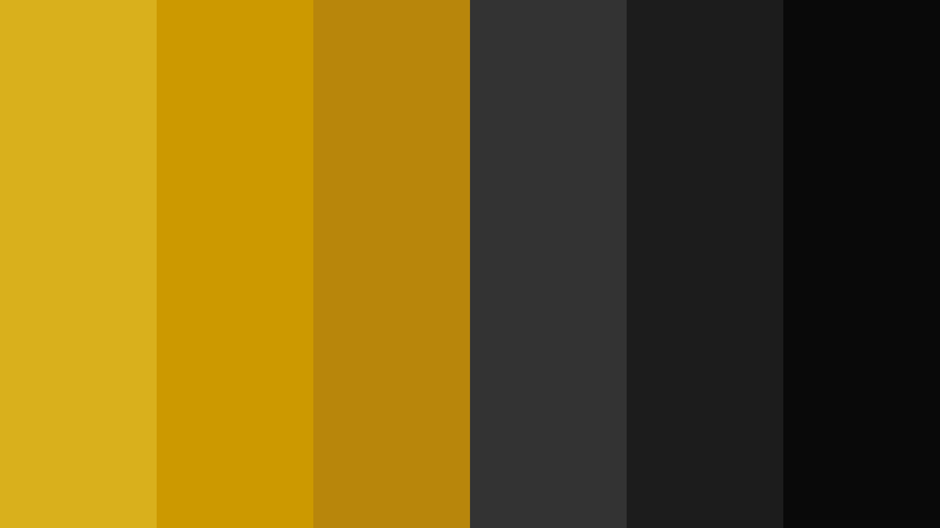 New Year Black & Gold Color Palette