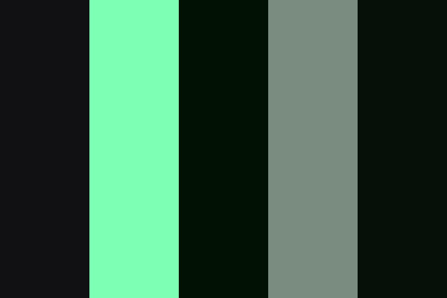 Night Sailing In The Rain Color Palette