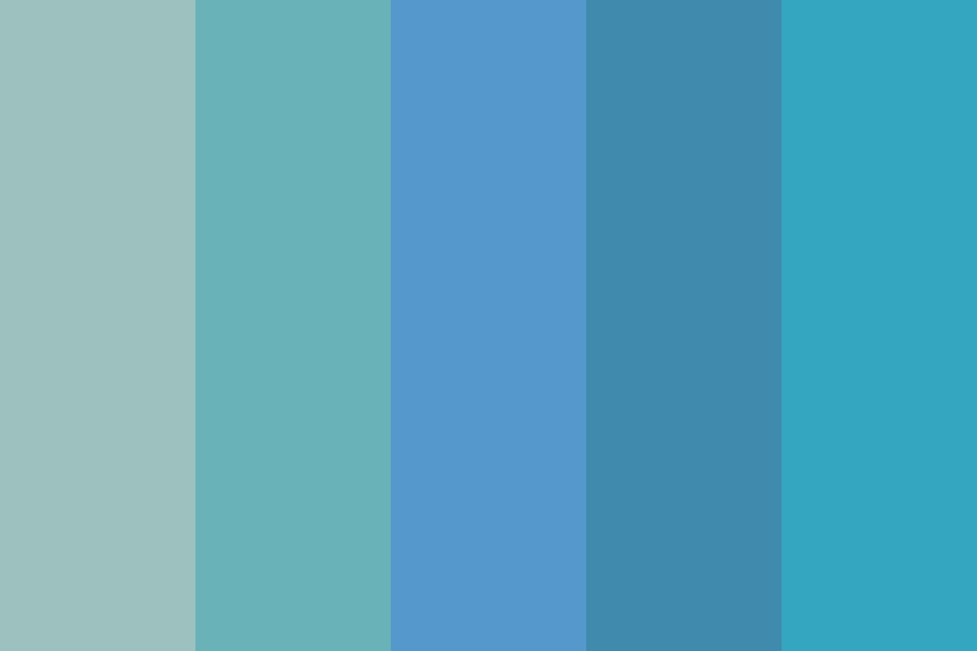 Nine And The Skies Blue Color Palette
