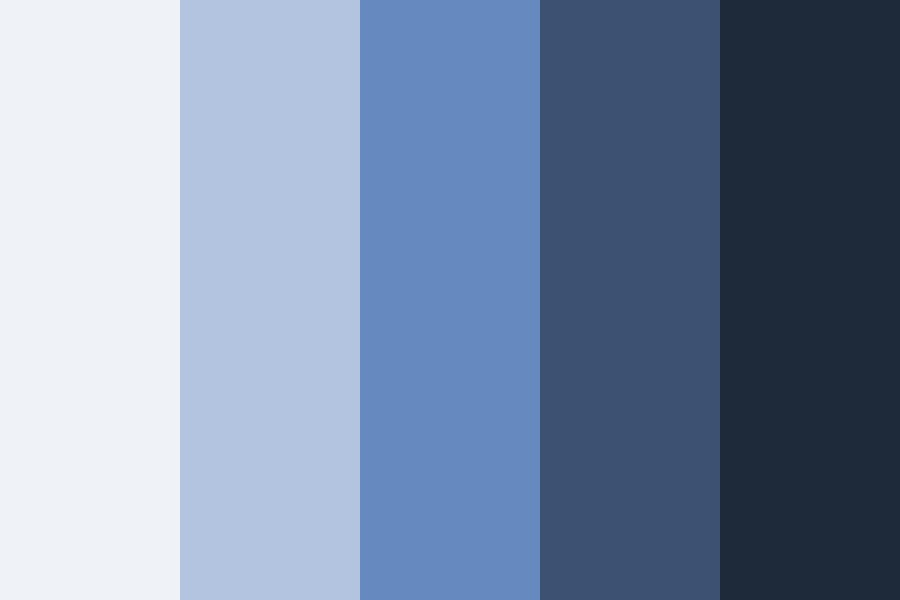 Notebook Blue Color Palette