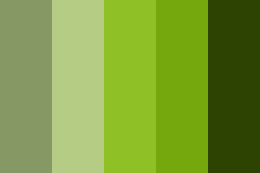 Nvida Green Color Palette
