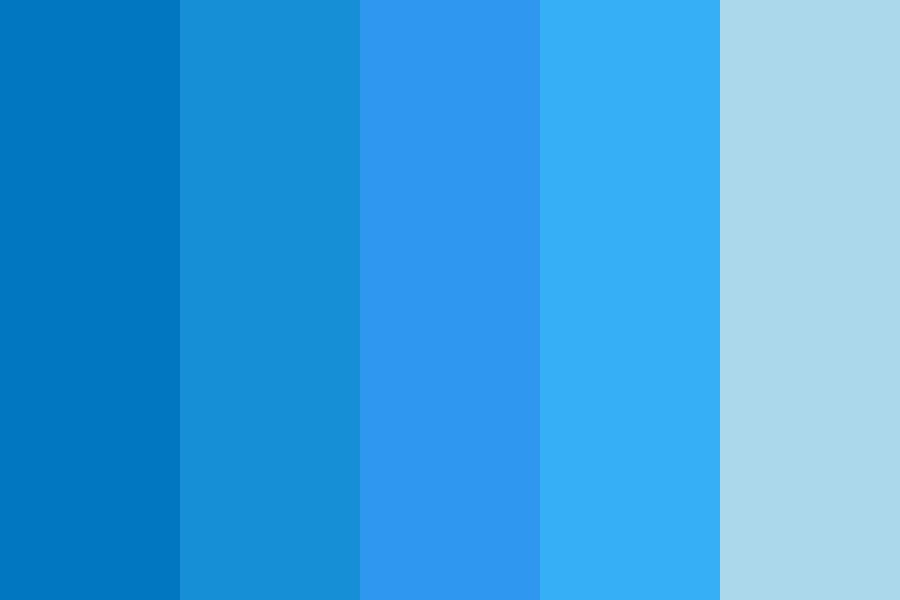 Ocean Blue Accents Color Palette