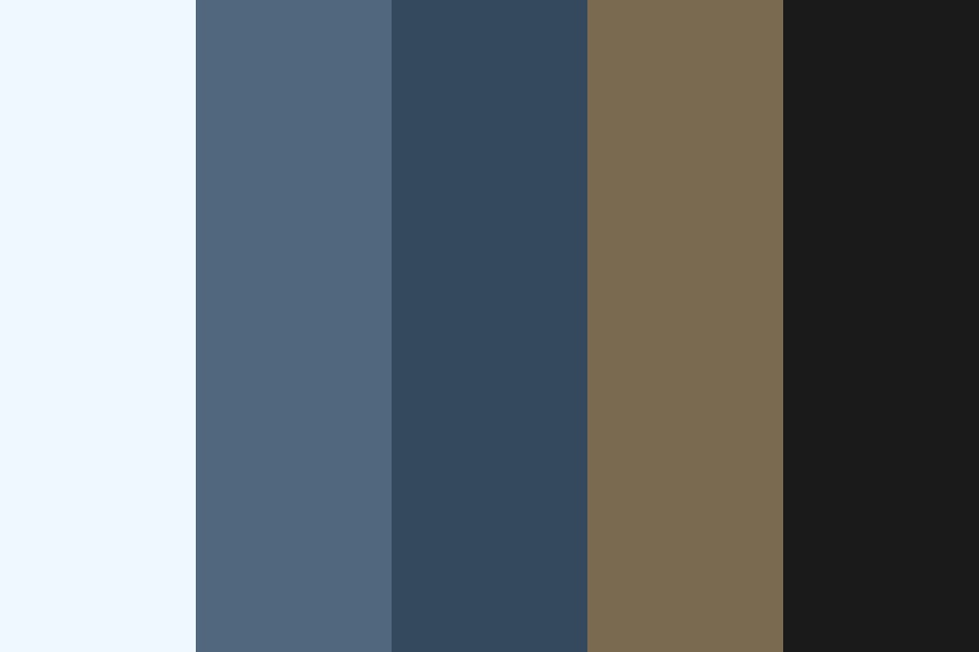 Oceanic Duststorm Color Palette