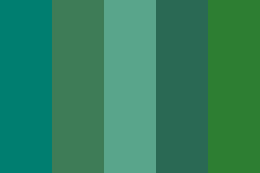 Oceanic Forest Color Palette
