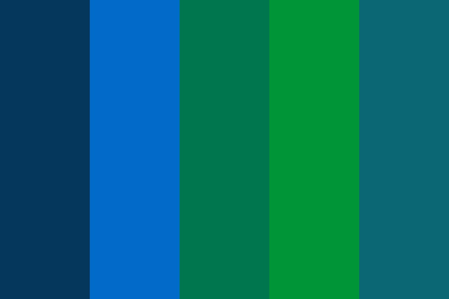 Oceans And Forests Color Palette