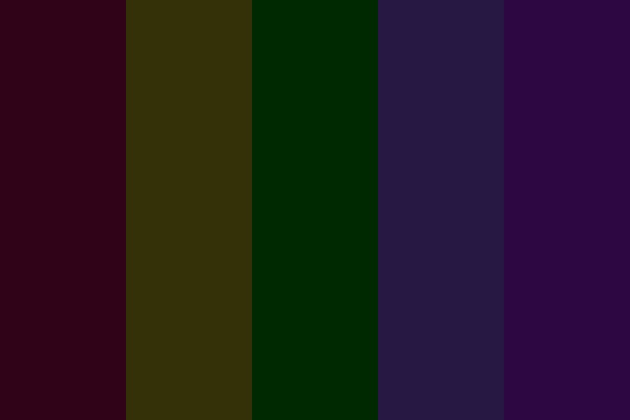 Off Blacks Color Palette