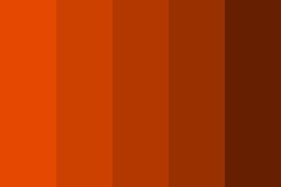 Orange, Darker Color Palette