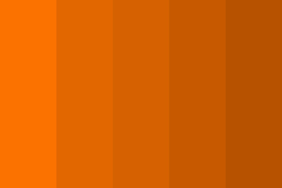 Orange   Bronze Color Palette