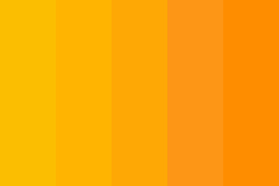 Orange Afternoon Color Palette