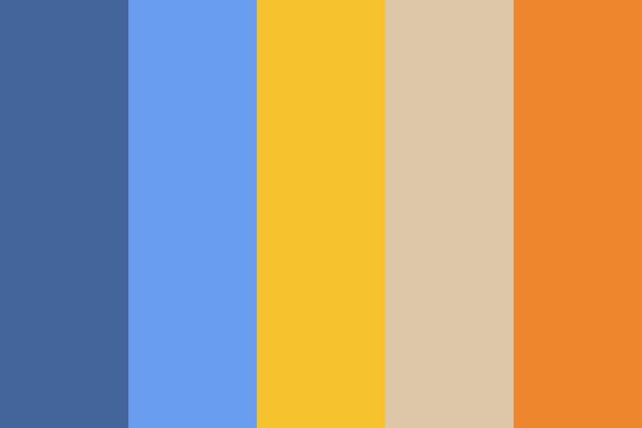 Orange And Blue Color Palette