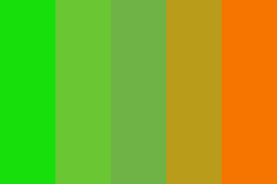 Orange And Lime Color Palette