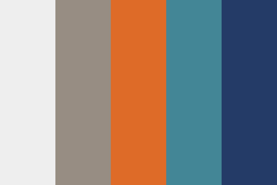 Orange And Teal At The Beach Color Palette