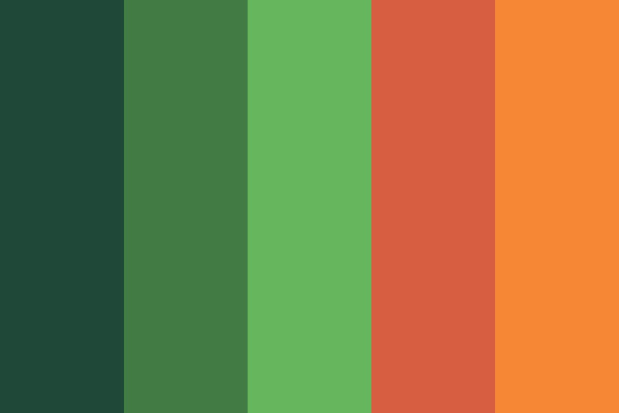 Orange Grove Color Palette
