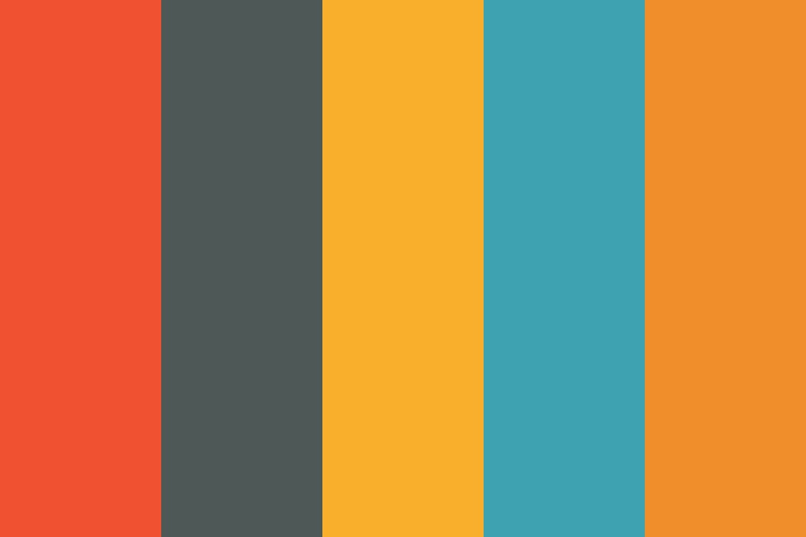 Orange Infographic Color Palette