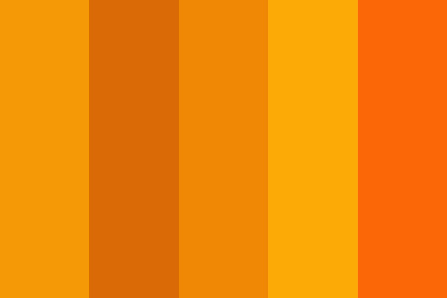 Orange Palette   Stylebook Color Palette